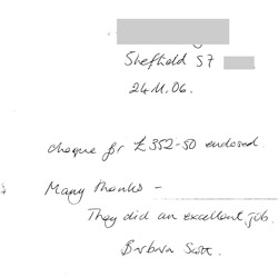 Customer Testimonial - Barbara Scott, Sheffield